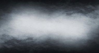 Smoke texture over blank black background. stock vector