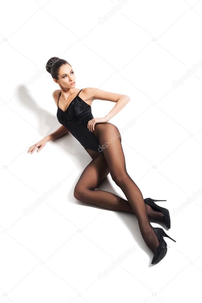 Sexy woman wearing alluring underwear