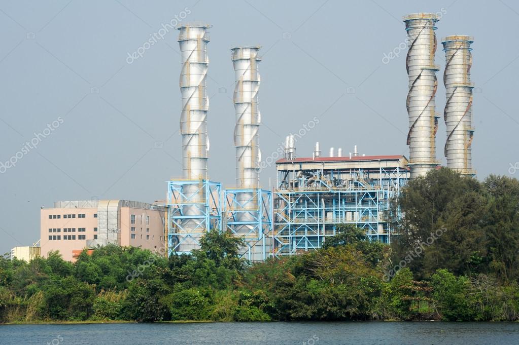 Heavy industry on the backwaters of Kerala