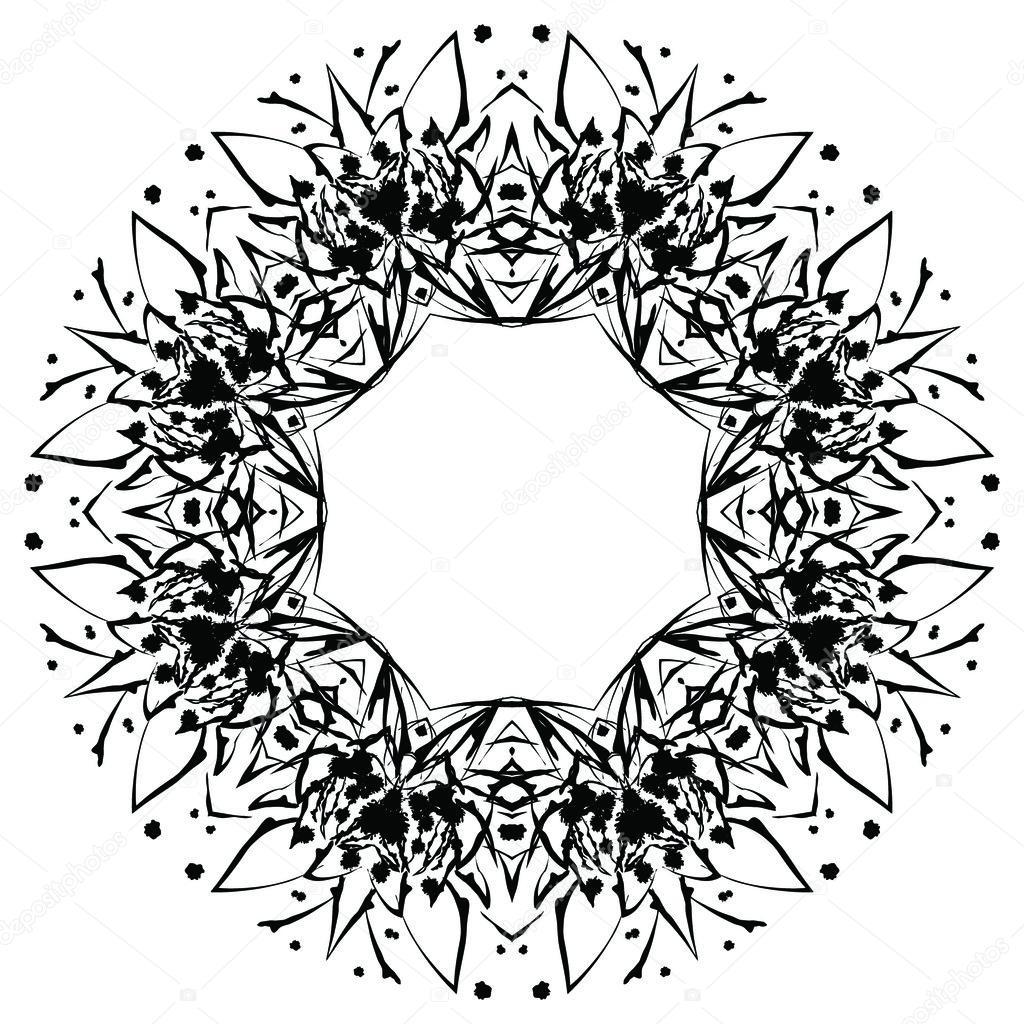 round ornament pattern template stock vector nina susik 109523600