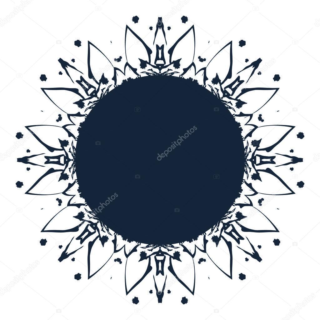 round ornament pattern template stock vector nina susik 109523664