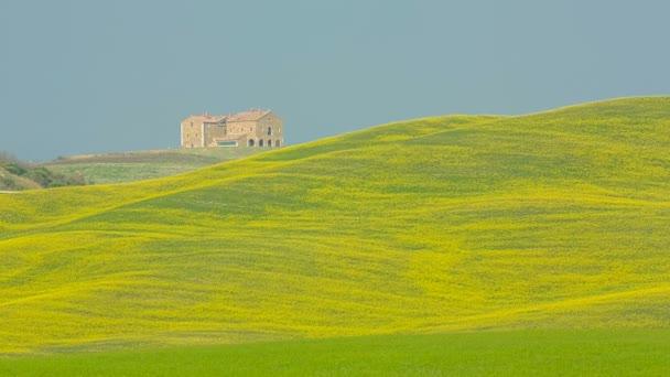 Blick auf die sanften Hügel der Toskana, Italien