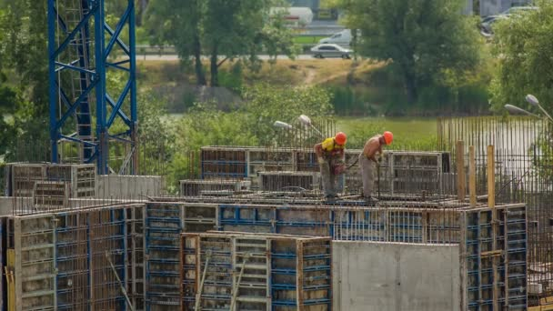 Construction of a house in Kiev, Ukraine
