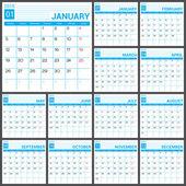 Kalendář do roku 2015 vektor desing šablona