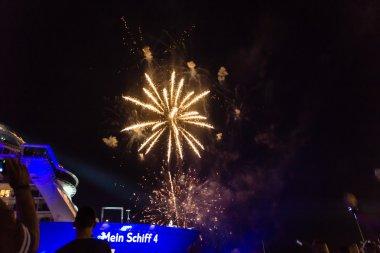 Fireworks with music from DJane Tanja la Croix