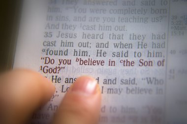 Bible text Do you believe in the Son of God?