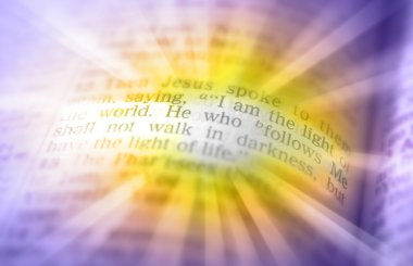 Bible text - I AM THE LIGHT OF THE WORLD - John 8:12