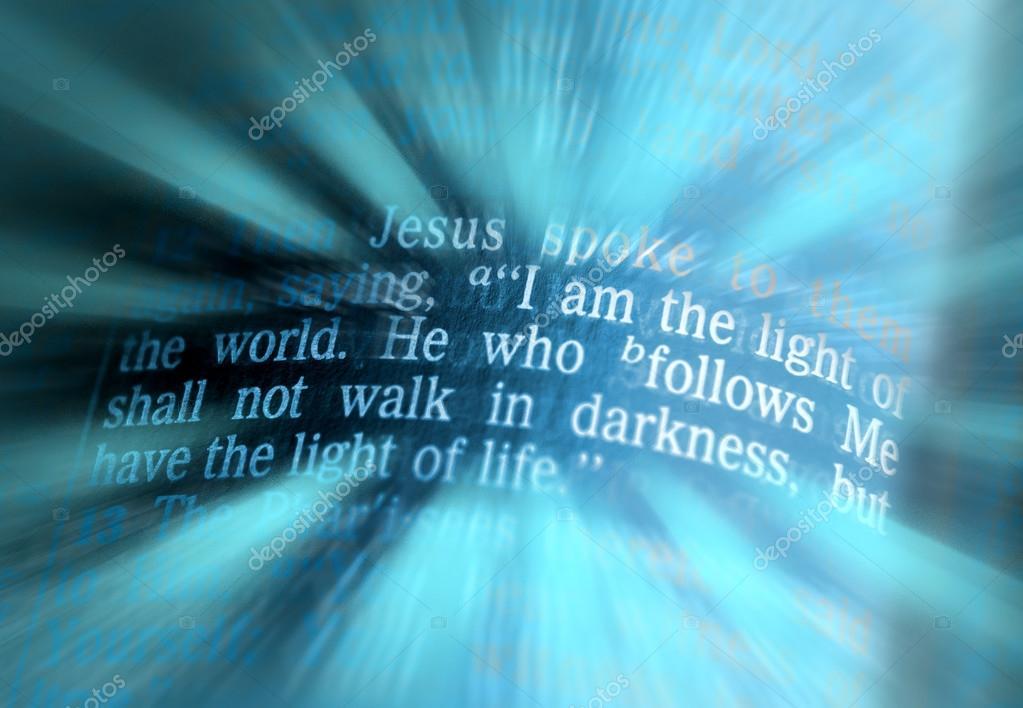 Tekst Biblii Ja Jestem Light Of The World Jana 812 Zdjęcie