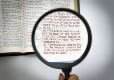 Open bible and verses