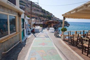 MATALA,CRETE-JULY 22: Local restaurant in Matala village on July 22,2014 on the island of Crete, Greece.