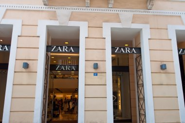 ATHENS-AUGUST 22: Zara shop on Emrou street on August 22,2014 Athens, Greece.
