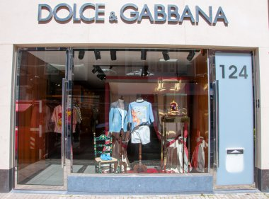 AMSTERDAM-APRIL 30: Dolce & Gabbana store on P.C.Hooftstraat shopping street on April 30,2015.