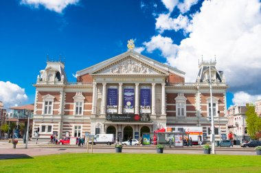 The Royal Concertgebouw from the Museumplein in Amsterdam, the Netherlands.