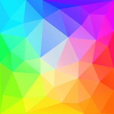 Rainbow polygonal  background. Vector EPS10.