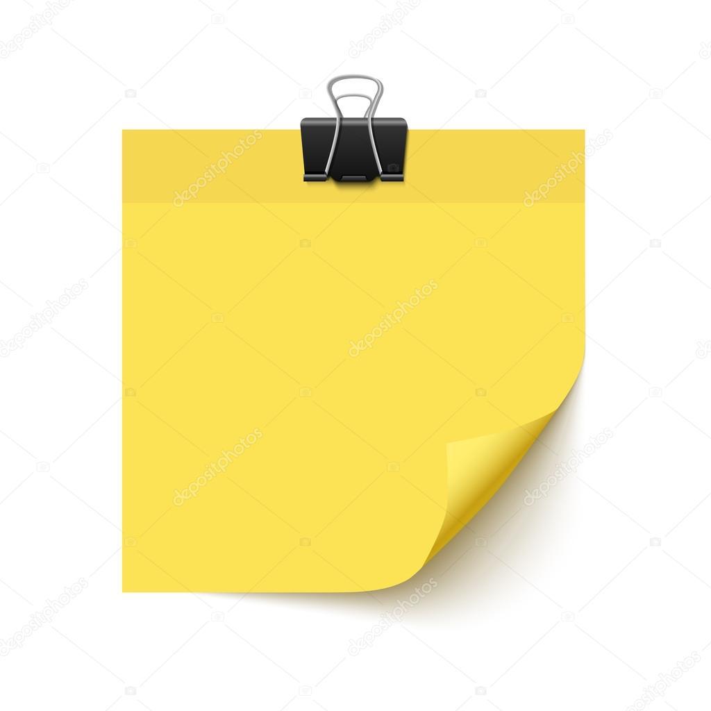 Papel de nota adhesiva amarilla — Vector de stock © voinSveta #103745640