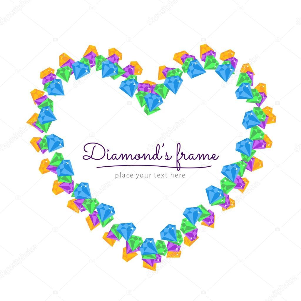 marco de diamante — Archivo Imágenes Vectoriales © voinSveta #62254627