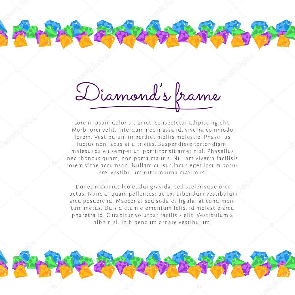 marco de diamante — Vector de stock © voinSveta #64150655