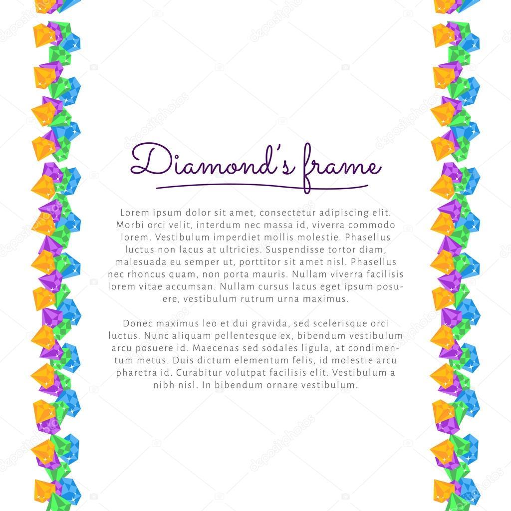 marco de diamante — Archivo Imágenes Vectoriales © voinSveta #64755189