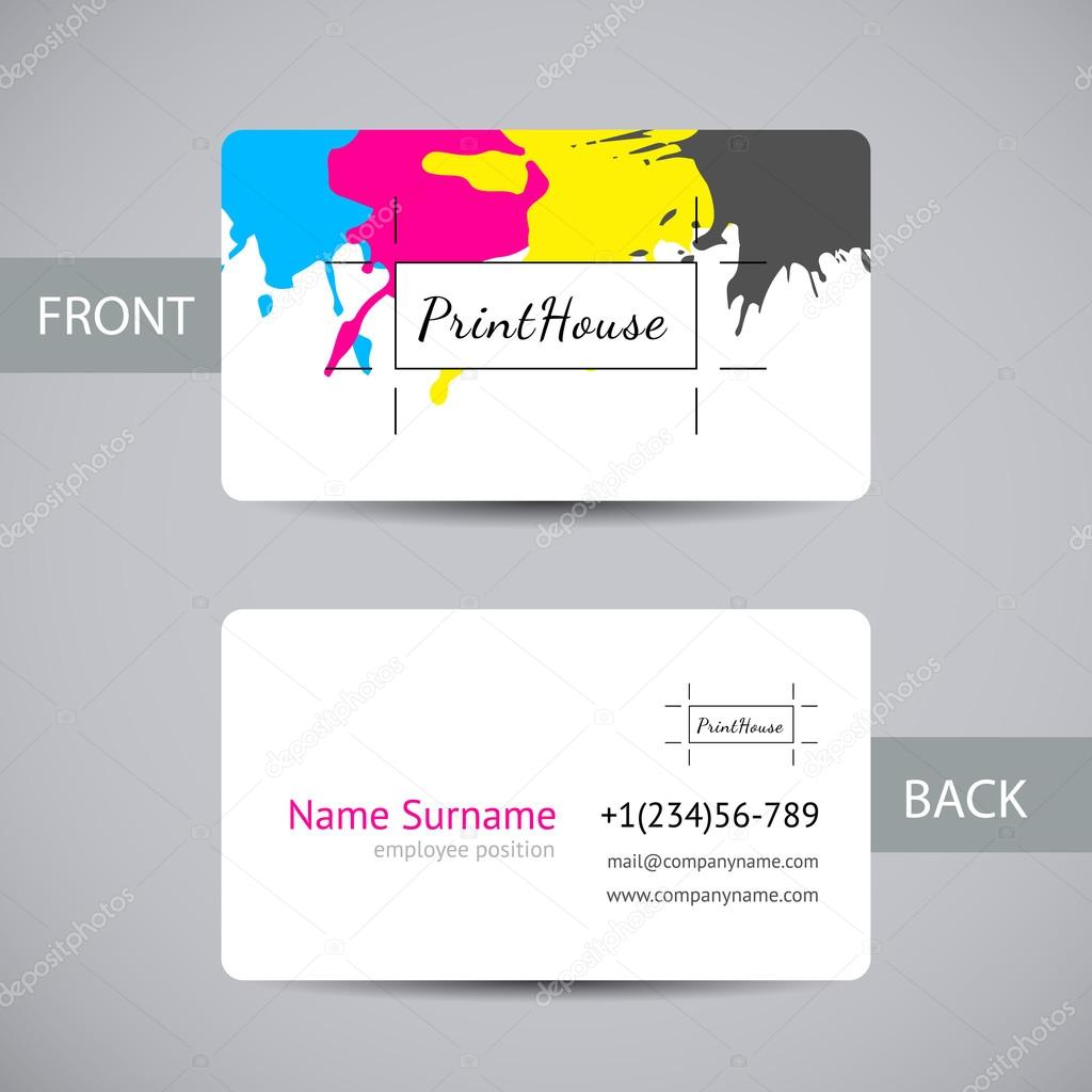 Vector Card With Colorful Stains And Blots For Printing House Branding Other Design Concepts Vecteur Par VoinSveta Trouver Des Images Similaires