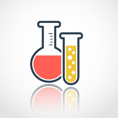 Chemical test tubes logo