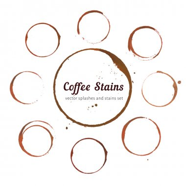 Coffee stain circles