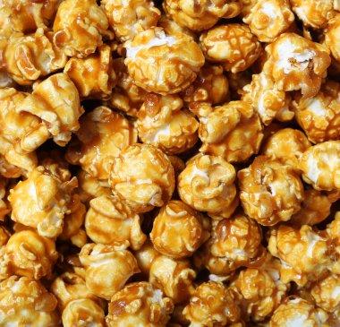 caramel pop corn background