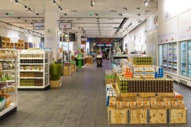 Interior view of Eataly shop inside  Dubai Mall.