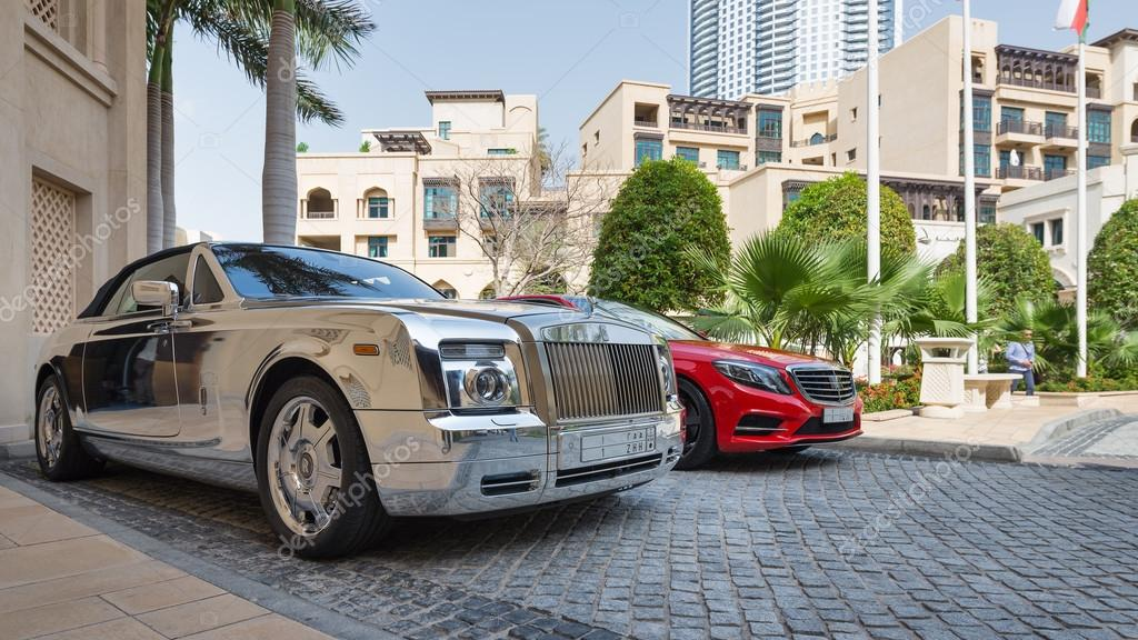 Luxury car parked outside Palace Hotel