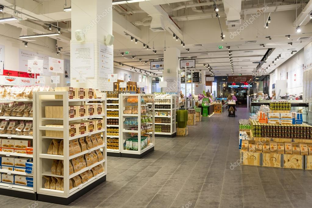 Interior View Of Eataly Shop Inside Dubai Mall Stock Editorial