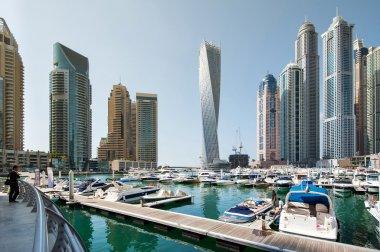 A skyline panoramic view of Dubai Marina