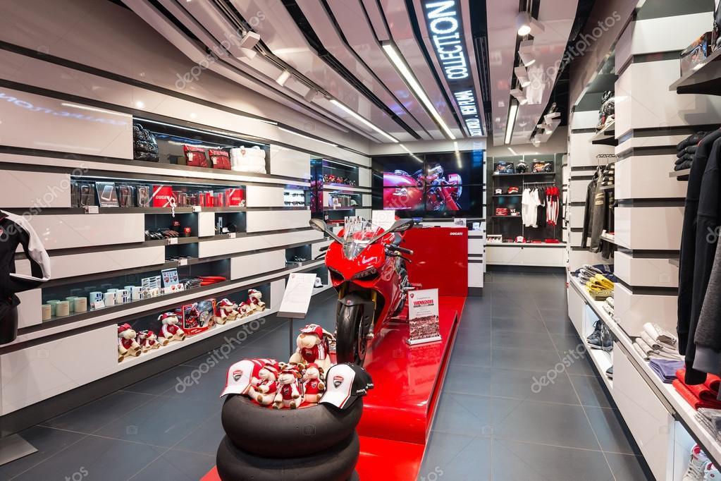 ducati shop in bologna airport stock editorial photo pio3 56325595. Black Bedroom Furniture Sets. Home Design Ideas