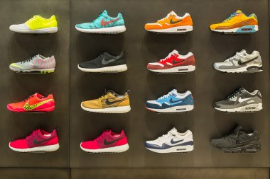 Exposition of nike sport shoes