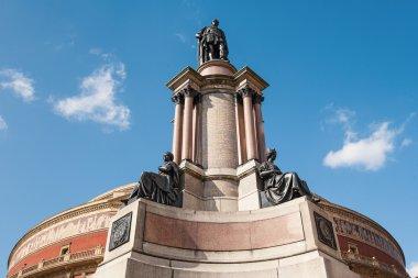 Statue of Royal Albert Hall in London