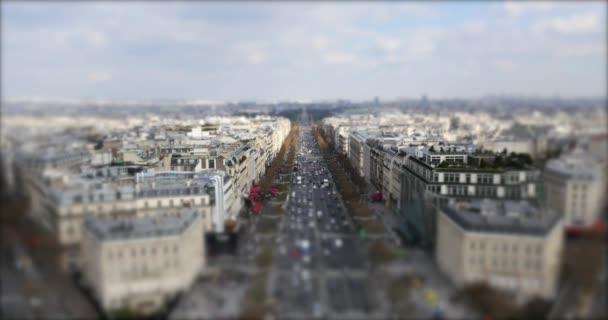 Blick auf die Stadt und die Champs-Elysees