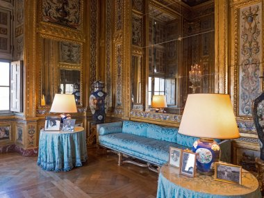 Vaux le Vicomte Castle interior in Paris