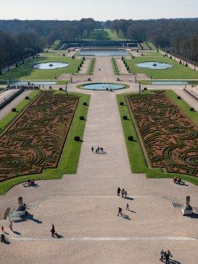Garden of Vaux le Vicomte Castle in Paris