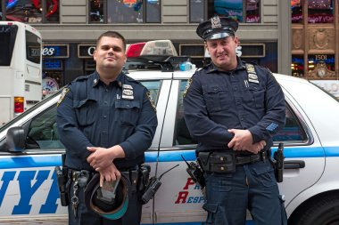 NYPD Police Officers at Times Square