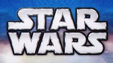 Star Wars logo printed on Lego box