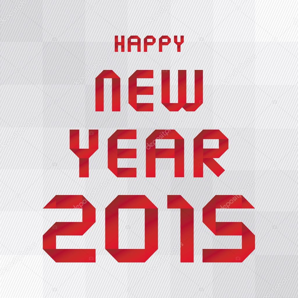 Frohes neues Jahr 2015 Gruß Karte3 — Stockvektor © gubgibgift #53932661