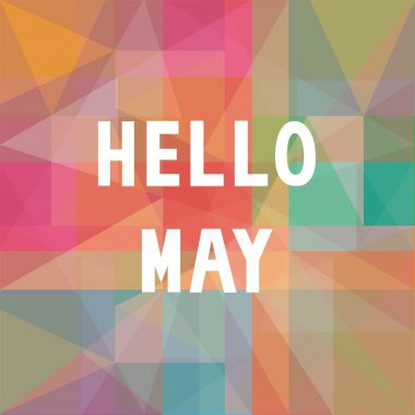 Hello May card for greeting. stock vector