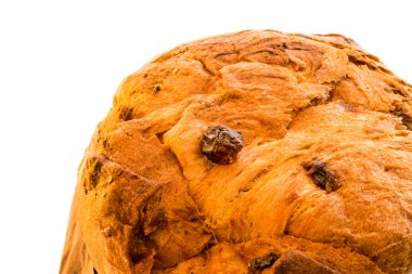 close up  italian christmas cake called panettone