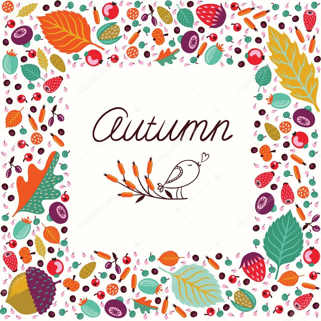 Autumn vector frame
