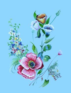 spring textile design flowers