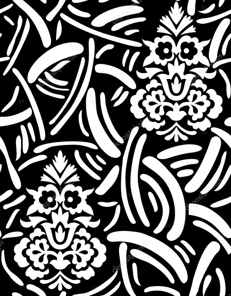 Art floral de noire travail prêt à imprimer vecteur par devmanoj8729