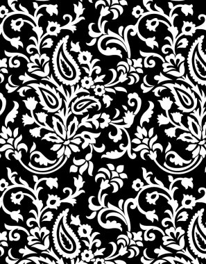 seamless black and white pattern with ethinic look