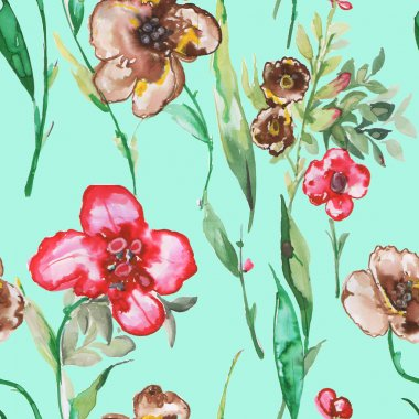 Seamless pattern Watercolor illustration