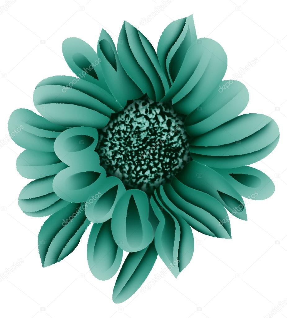 Yapay Renk Artwrok Tek çiçek Stok Vektör Devmanoj8729 88199756