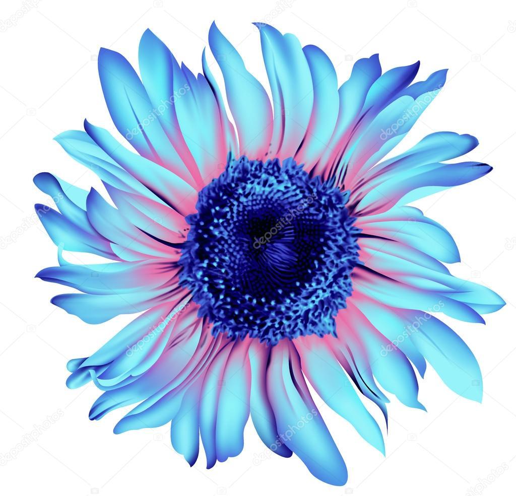 Yapay Renk Artwrok Tek çiçek Stok Vektör Devmanoj8729 88205964