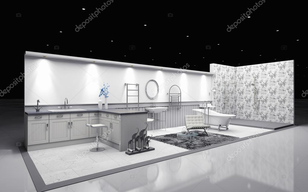 D Rendering Exhibition : Exhibition booth d rendering — stock photo krooogle