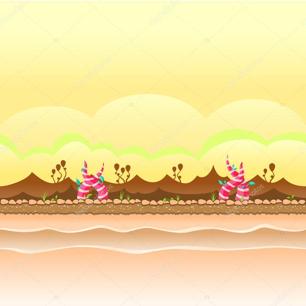 Seamless Repeating Cartoon Background